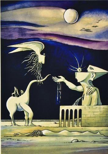 """Lote 1 - Cruzeiro Seixas (n.1920) - Serigrafia sobre papel, assinada, série 50/200, motivo """"Figuras Surrealistas"""", com 44x30 cm (medida total do papel com 70x50 cm) - SEM MOLDURA. Nota: Pintor, escultor, ilustrador e poeta, Cruzeiro Seixas é considerado o nome maior do surrealismo Português. Estudou na Escola Profissional de Arte António Arroio e depois de um curto período expressionista-neo-realista, ligou-se definitivamente ao surrealismo. Integrou em 1949-50,... - Current price: €160"""