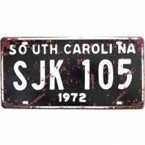 Placa de carro antiga decorativa metalica vintage - S Carolina