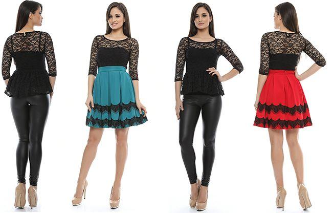 În stocul magazinului Adrom Collection au sosit 2 modele noi de bluze din dantelă. Ele se pot achiziționa online în regim en-gros accesând link-urile de mai jos: 5905: www.adromcollection.ro/bluza-angro-5905 5906: www.adromcollection.ro/bluza-angro-5906