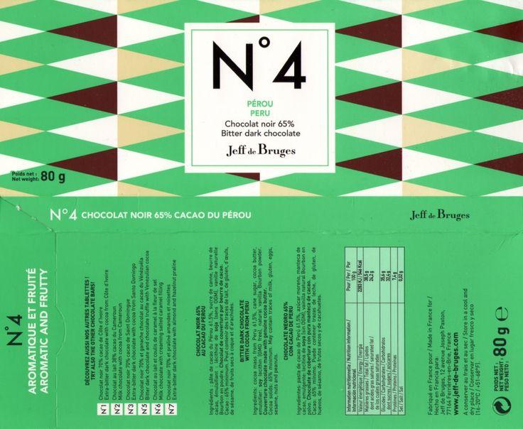 tablette de chocolat noir dégustation jeff de bruges n° 4 pérou 65