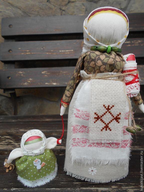 """Купить Кукла народная оберег """"Мамушка"""" - зеленый, народная кукла, народные традиции, русская кукла"""