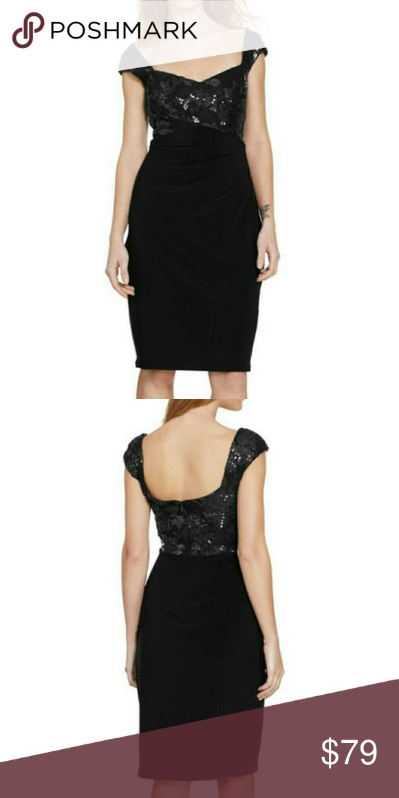 "❤ NWT Ralph Lauren Sequin Stretch Sheath Dress New with tags, never used. Petite's size 6P. Color black.  Sequined flowers over textured fabric light up the sweetheart-neck bodice of this figure-flattering party dress.  Petite sizes best fit women 5'4"" & under.  - 36"" petite length  - Back zip closure  - Sweetheart neck  - Cap sleeves  - Fully lined  - 95% polyester, 5% elastane  - Dry clean  Remember to bundle up and save, so check my closet for more treasure finds. Lauren Ralph Lauren…"