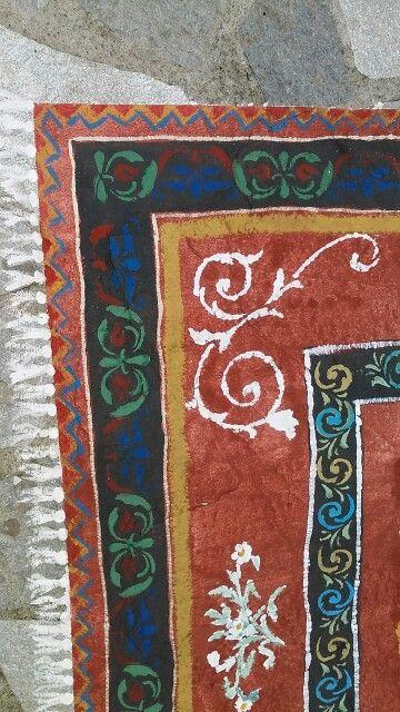 Tappeto dipinto