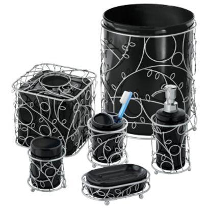 surprising black silver bathroom accessories | InterDesign Twigz Bath Collection - Black/Silver (I'd only ...