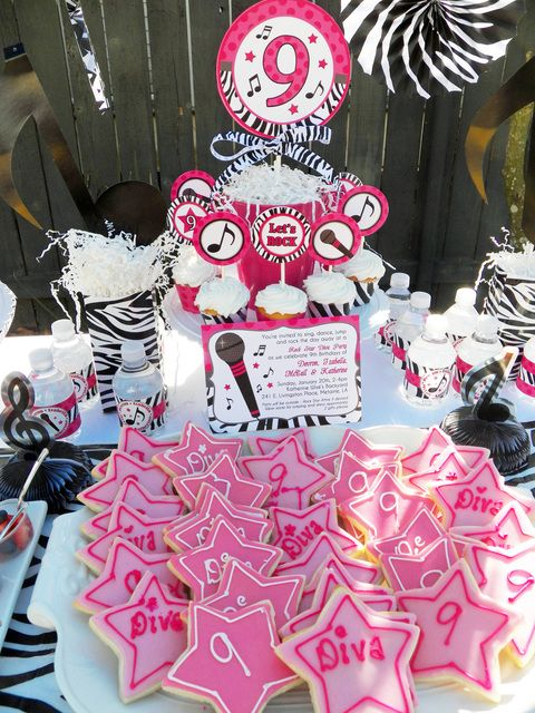 Amazing Diva Rockstar birthday party! See more party ideas at a CatchMyParty.com!   #girlparty