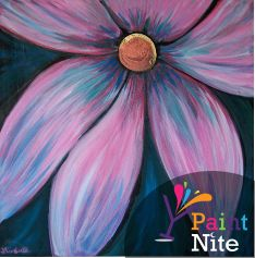 Mixed Color Daisy  - Paint something beautiful at a local event near you! www.paintnite.com - #PaintNite