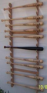 Baseball Bat Racks - Village Wood Shoppe                                                                                                                                                      More