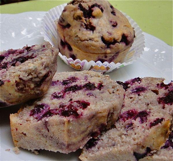Pain maïs myrtilles façon muffins