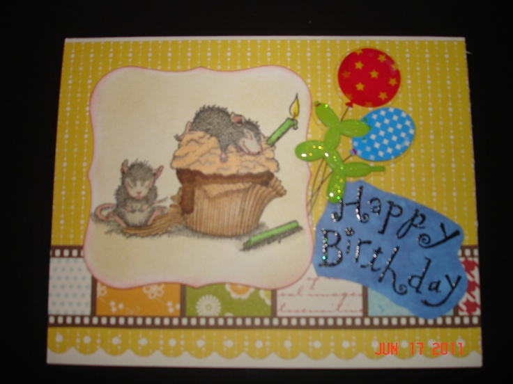 Love these stamps with the mice