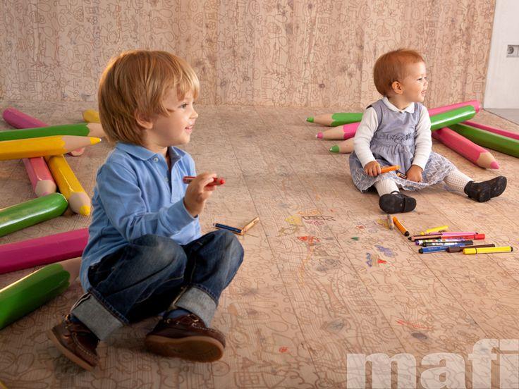Mafi Timber Floors   Carving Kids Brushed White Oil