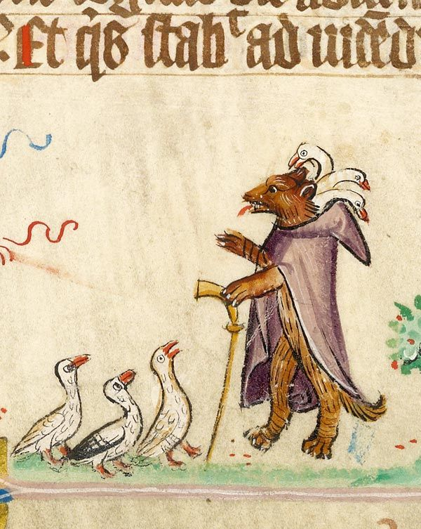 Fable: Fox as Preacher | Missal | Germany, Hamburg | before 1381 | The Morgan Library & Museum