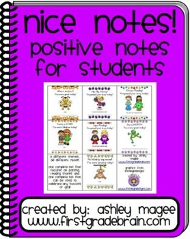 FREE! Nice Notes! Positive Notes for Students!: Positive Reinforcement, For Kids, Free Nice, Cute Ideas, Nice Note, Positive Note, Classroom Management, Free Stuff, Reading Stories