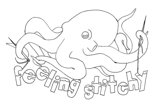 I was trying to pin the cutest peanut butter and jelly stitch pattern, but it wouldn't pin. It is right underneath this octopus pattern