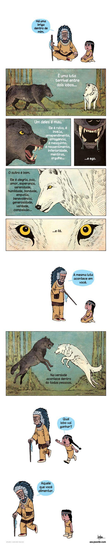 Alimento o lobo branco