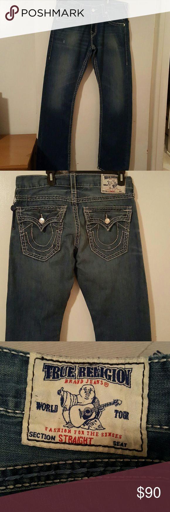 TRUE RELIGION...MEN'S JEANS...AUTHENTIC True Religion..Men's Jeans..AUTHENTIC. SIZE 32X32 True Religion Jeans Straight