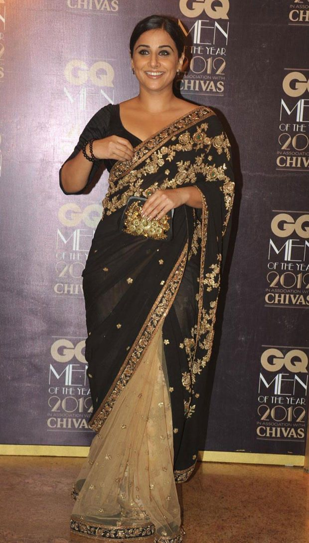 Vidya Balan in Sabyasachi Saree at GQ Men Awards 2012