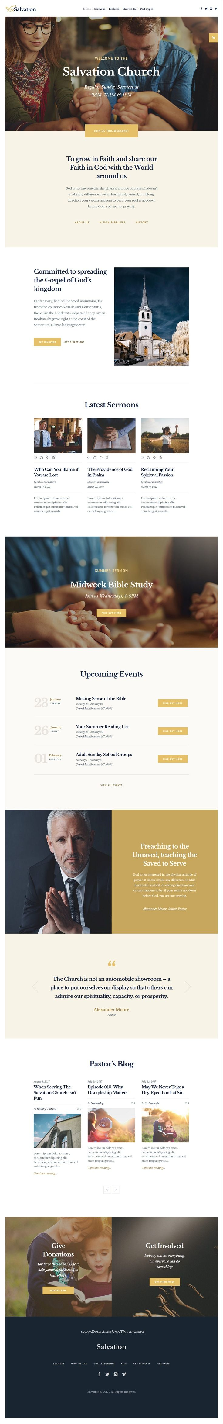 9 best WordPress Church Themes images on Pinterest