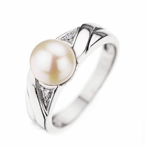 #Bijuterii cu perle Inel de logodna cu diamant CORIOLAN DR164