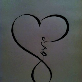 Would be a pretty tattoo, infinity