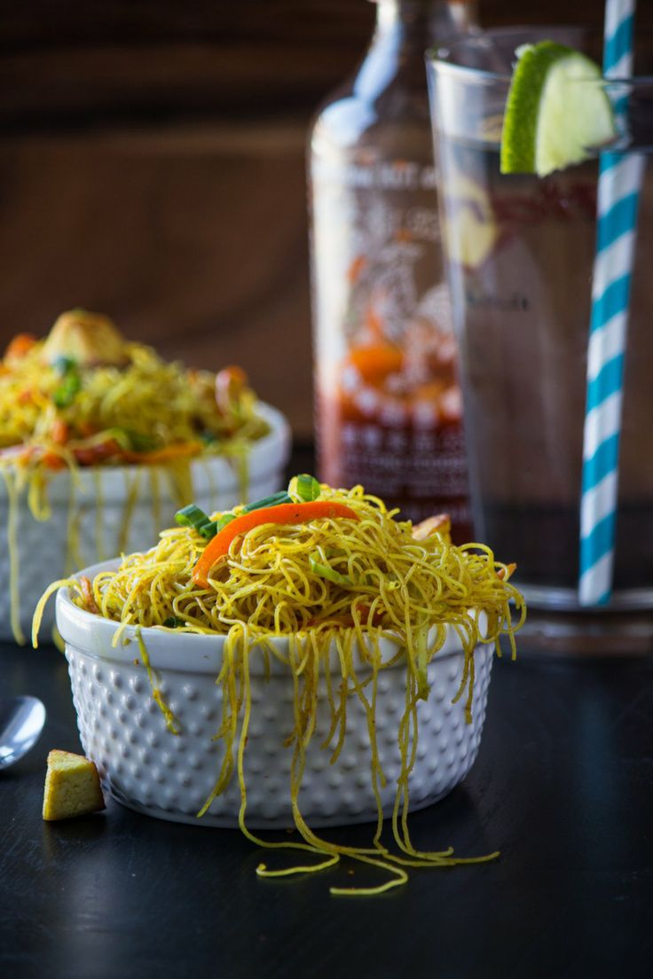Singapore Noodles - easy to make and wonderful to have. Once you make it and have it, you will forget take away Chinese food.