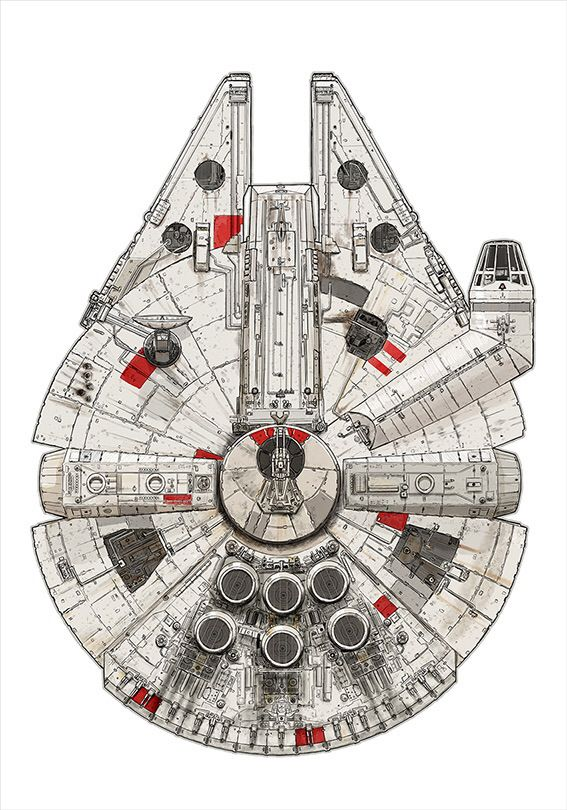 Millennium Falcon – Pirate Ship by David Kennad