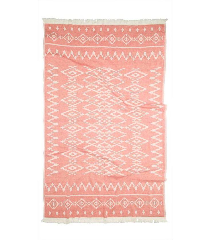 Kilim Pink Towel - Turkish T - $53.99 - domino.com