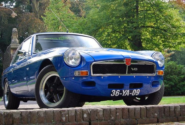 MG MGB GT V8 1976 - color Tahiti Blue - tuned V8 engine - Import United Kingdom (1996 - OGH 105P) #MG #MGB