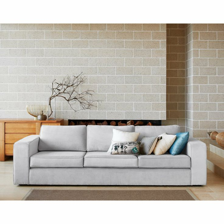 Furniture lounges fabric lounges 39 carson 39 3 5 for Besser block house designs