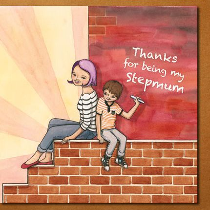 """""""Thanks for being my stepmum"""" card, by flossy-p for Modern Family Cards. Also available in """"Stepmom""""  #card #stepmum #stepmom #stepchild #stepson #flossyp #flossy-p"""