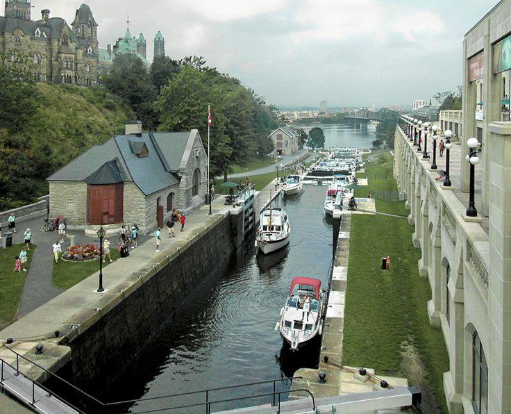 Locks on Rideau Canal, Ottawa, Canada