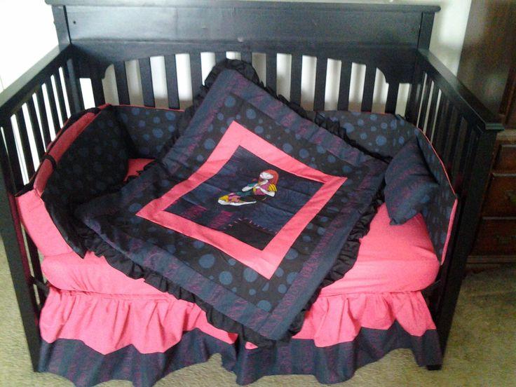 new 7 piece nightmare before christmas sally baby crib bedding set