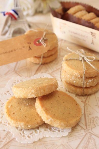 「塩バニラのさくさくディアマン・クッキー」きゃらめるみるく   お菓子・パンのレシピや作り方【corecle*コレクル】
