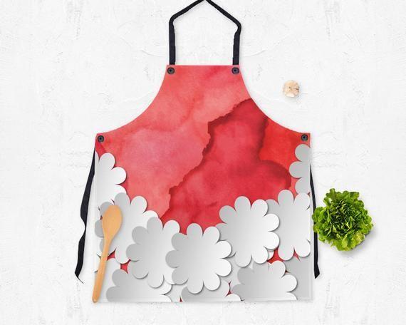 Kitchen Accessories Apron Watercolor Floral Apron Watercolor Apron Hostess Apron Hostess Gift
