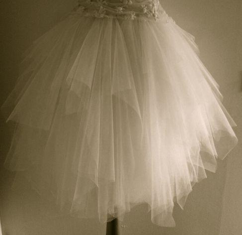 Fluffy tulle skirt