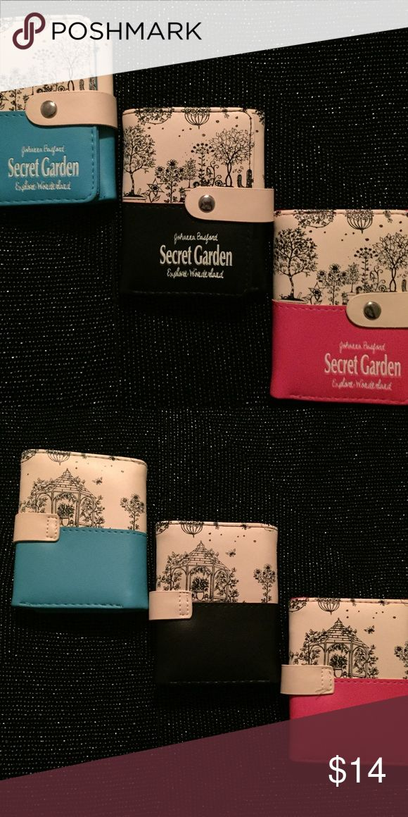 "Cult Of Personality, The Secret Garden Book Wallet Emporiama's Cult Of Personality, The Secret Garden Book Wallet  These Wallets Feature The Cover From The Book, The Secret Garden As Their Exterior.  The Interior Has Card Slots, A Large Opening For Bills And A Zipper Compartment.  They're Made Of Faux Leather/Leathertte.  Silver Tone Snap Closure.  Three Colors Available!  Measurements: 4.5"" Tall x 4"" Wide. Emporiama's Cult Of Personality Bags Wallets"