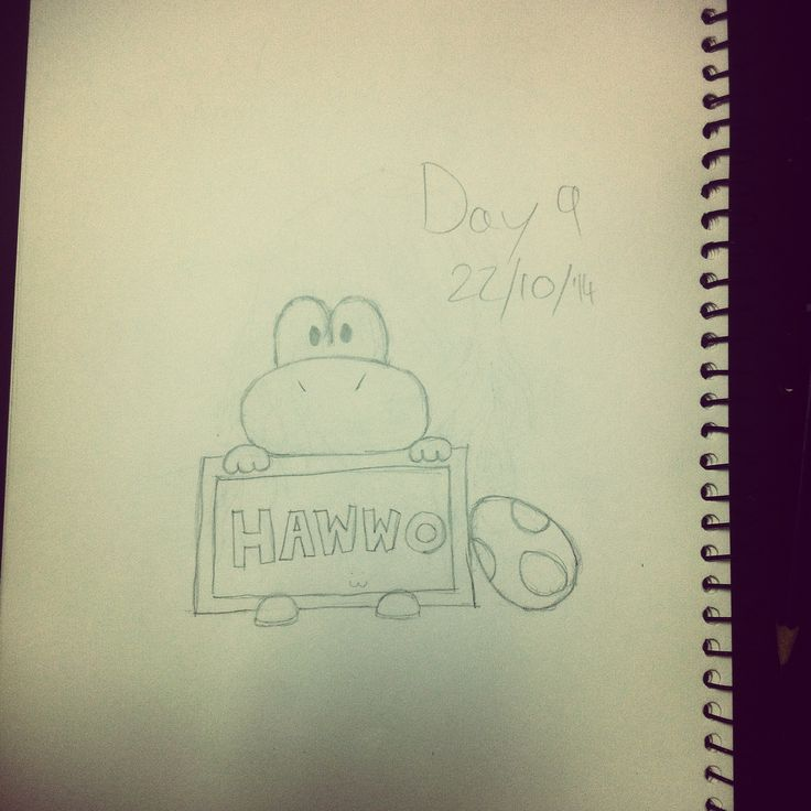 I need to improve my drawing ability so I'm challenging myself to draw every day for 30 days. Here's day 9: Yoshi