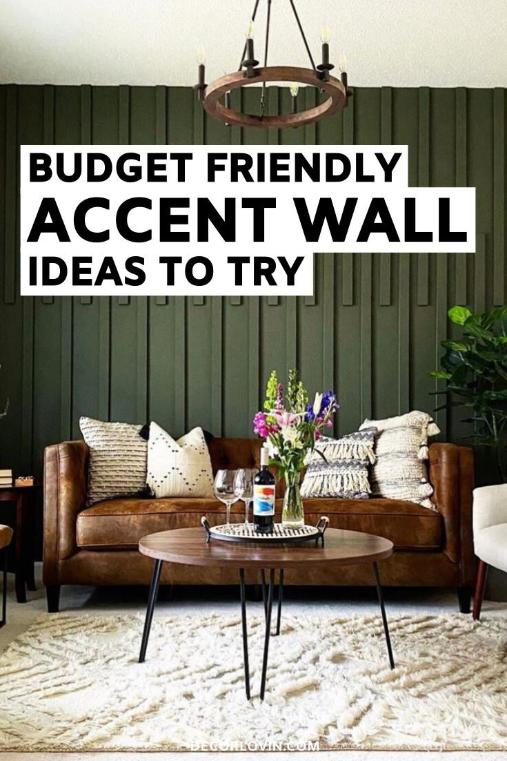 Budget Friendly DIY Accent Wall Ideas in 2020   Accent ...