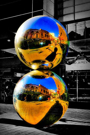 the malls balls silver sculpture, Adelaide's icons in Rundle Mall Adelaide city South Australia