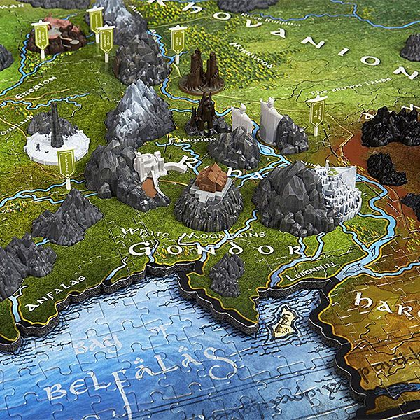 Map of Middle Earth 3D Puzzle ~ $90 ~ Lord of the Rings Gifts!