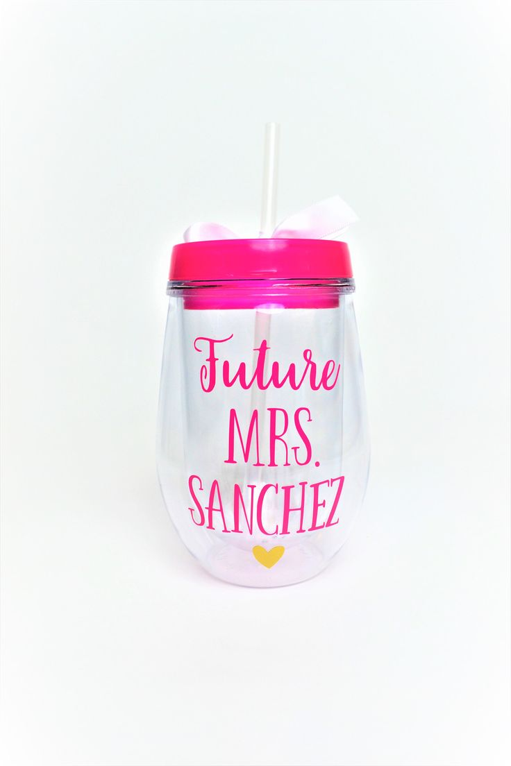Future Mrs Wine Tumbler // Mrs. Wine Glass // Wedding Planning Wine Glass // Future Mrs Gift // Bridal Shower Gift // Gift for Bride to be by StellaKayeDesigns on Etsy https://www.etsy.com/listing/520608002/future-mrs-wine-tumbler-mrs-wine-glass