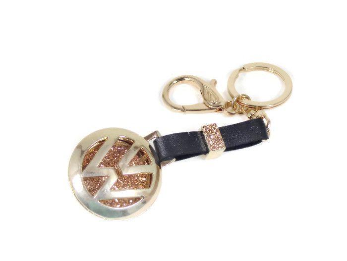 VW Key Chain Gold and Diamond Rhinestone  12150fd5dab5