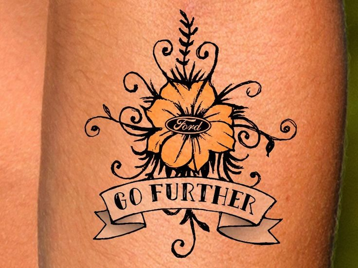 Check out this cool Ford tattoo. You can build your own with the Ford Ink Maker.