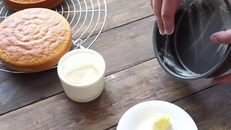 Подготовка формы для выпечки коржа - Французская рубашка