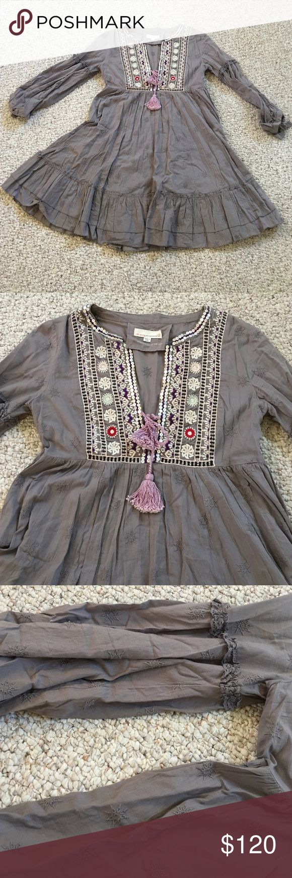Beautiful Odd Molly Dress, size 2 Beautiful Odd Molly Dress, size 2. Absolutely beautiful Odd Molly dress, worn once! Gray, purple, lavender colors; beautiful detail. Must have! Odd Molly Dresses