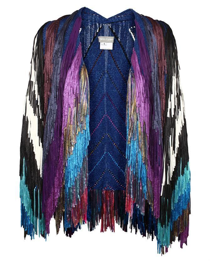 Tim Ryan mulit color fringe jacket
