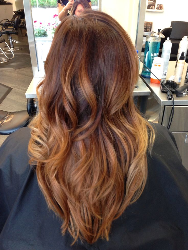 Caramel ombre on dark hair by julina i live for hair makeup pin - Ombre hair caramel ...