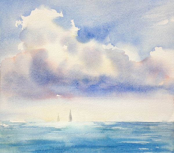 How to paint the sky (watercolor)