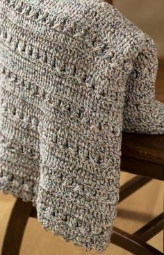 Crochet Textured Throw Crochet Pattern - Softly textured crochet afghan is a terrific project for beginners and advanced crocheters alike  and makes a quick and easy gift or fresh accent for your home.