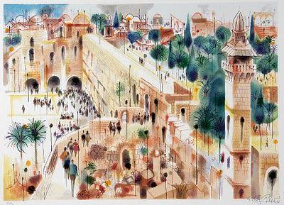 Blog of an Art Admirer: Israeli artists. Jerusalem by Shmuel Katz