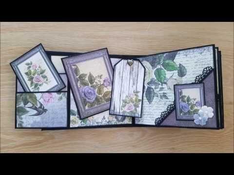 Artdeco Creations Brands: Rambling Rose Mini Album by Gail Ellis